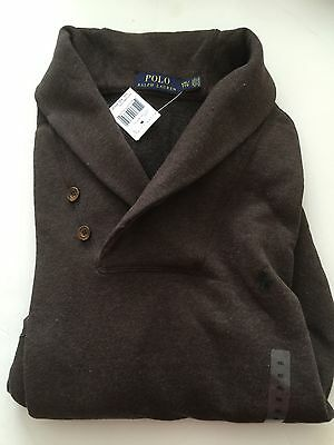 PULL MARQUE RALPH LAUREN HOMME taille S Col châle CHOCOLAT 2016 portcompris