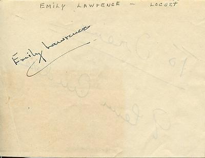 Emily Lawrence Actress & Glenn Anders Actor Signed Page Autograph
