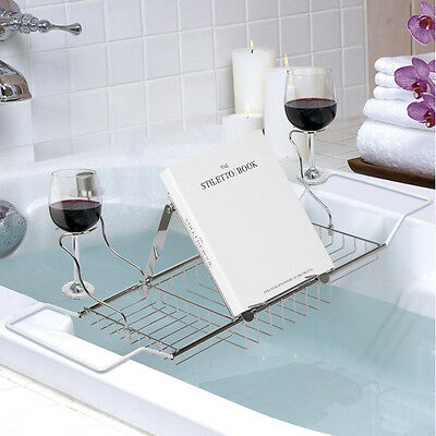 Extendable Bath Tub Rack Caddy Tidy Organiser Storage Shelf Holder Tray
