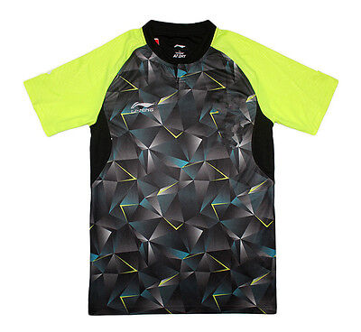 2016 New Li Ning men's Tops table tennis clothing  Badminton Only T-shirt 2097