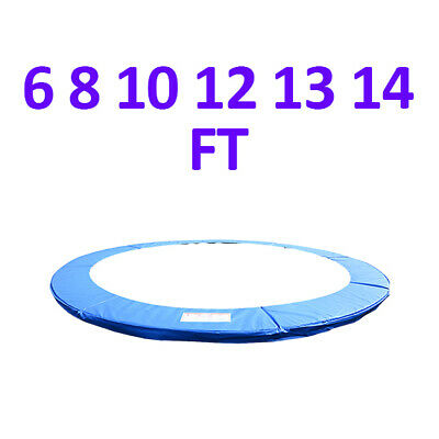 Trampoline Replacement Pad Safety Padding Spring Cover 6 8 10 12 13 14ft Blue