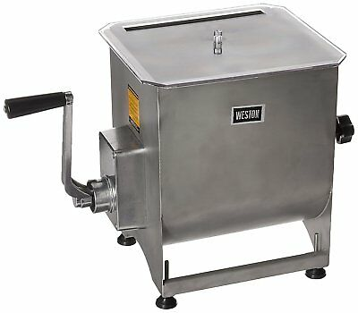 Weston Stainless Steel Manual Meat Mixer - 44 lb Capacity 36-2001-W Meat Mixer