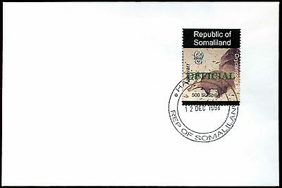 Somaliland 1998 Aarkvark Official Green Overprint Cover #C33815