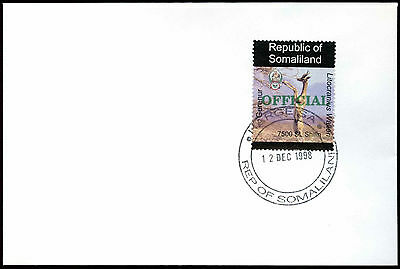Somaliland 1998 Gerenur Official Green Overprint Cover #C33807