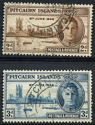 Pitcairn Islands 1946 SG#9-10 Victory KGVI Used Set #D15566