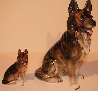 Vintage German Shepard Dog Porcelain Figurine