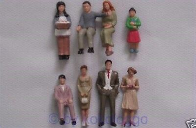 F31 1 gauge Figurines 8 Piece standing + sitting 1:32 also for Race track 132