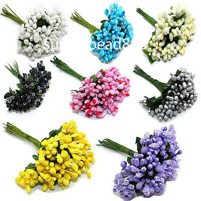 12PCS Mulberry party Flower Stamen stem marriage stamen wedding box decoration