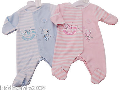 BNWT Tiny Baby Premature Preemie Baby 100% cotton romper sleepsuit Clothes