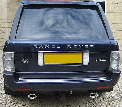 Twin stainless steel tailpipe rear Exhaust trims tips Range Rover L322 2002-2012
