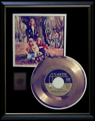 Emerson Lake And Palmer Rare Gold Record Platinum Disc 45 Rpm  Lucky Man!