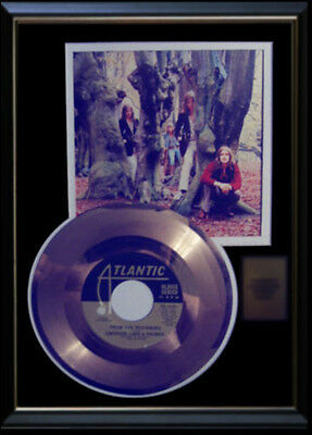 Emerson Lake And Palmer Rare Gold Record Platinum Disc 45 Rpm From The Beginning
