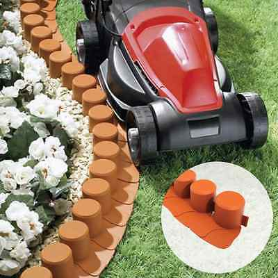 Log Styled Mow Over Garden Border Plastic Edging For Flower Bed Interlocking