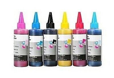 Quality Korean 6x100ml Ink for Epson to refill CISS or Cartridges Mug Heat press
