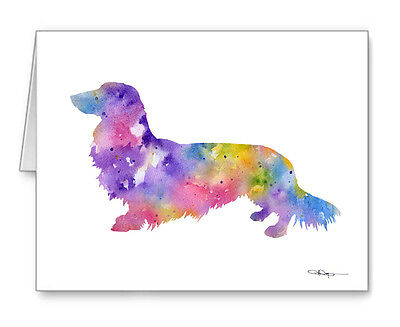 LONG HAIRED DACHSHUND Note Cards With Envelopes