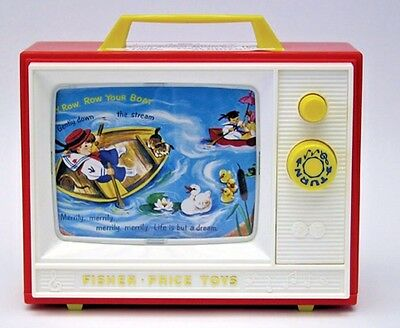 Fisher-Price TWO TUNE TV Music Box TOY Musical Preschool Fisher FP 1696 New NIB