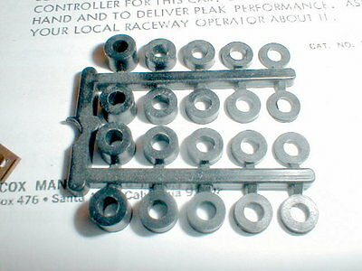 """1960 Black Nylon Axle Spacers for 1/8"""" Axles #4220 COX NOS 4 ea of 5 diff size"""