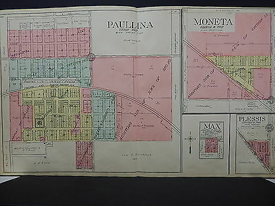 Iowa, O'Brien County, 1911, Plat Map, Double Page, City of Paullina  J20#14