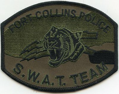 FORT COLLINS COLORADO CO subdued SWAT POLICE PATCH