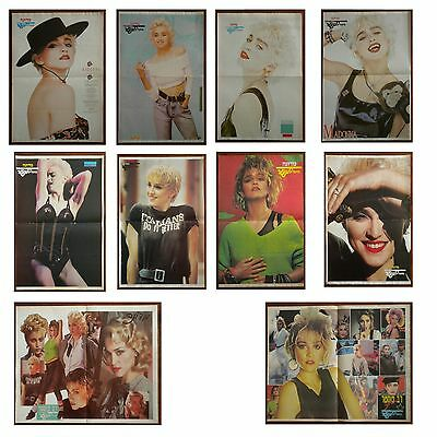 MADONNA LOT OF 10 RARE ISRAELI HEBREW 80's/90's PINUP POSTERS