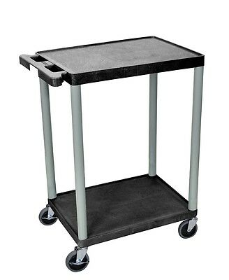Luxor Utility Cart-Two Shelves Structural Foam Plastic- HE32-N Utility Cart NEW