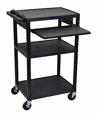 Luxor Presentation 42 in. AV Cart w/ 3 Shelves - LP42LE-B NEW