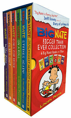 Big Nate Series Collection Lincoln Peirce 6 Books Box Set Big Nate Strikes Again