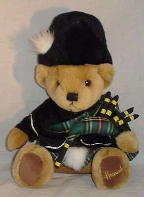 Harrods Bear Scottish Piper Teddy Plush London Kilt Bagpipes Knightsbridge