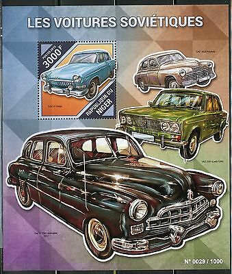 Niger  2015 Soviet Cars Souvenir Sheet   Mint Nh