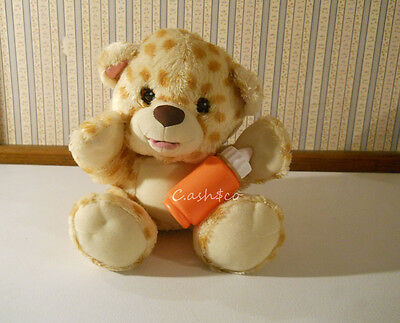 Fisher Price Snugglekins plush baby cat cheetah leopard with a bottle sounds