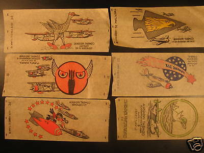 Lot (6) Very Rare 1950s Walt Disney Squadron Decals