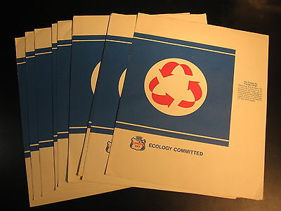 "Lot (14) Canada Dry Book Covers- paper 10x12"" Ecology Committed"