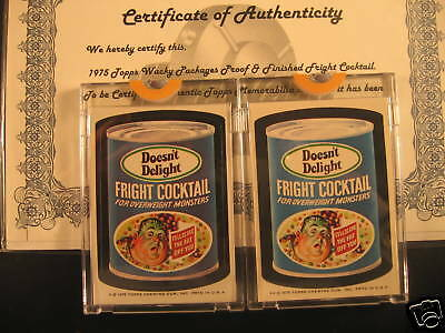 1975 Topps Wacky Packages Proof Fright Cocktail