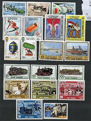 Yemen Perforated & Imperforated Lot Of Stamps & Souvenir Sheets Mint Nh & Used