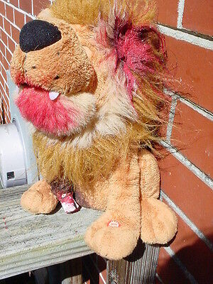 ooak Gothic horror 10 inch animated singing zombie lion blood halloween prop