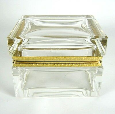Dekorative Glas Dose / Schatulle / Tuhe scharniert Glass Box / Chest RARE