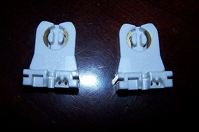 New Leviton Fluorescent Lamp Holder Light Socket T12 T8 Bi-Pin Shunted 23653-WWP