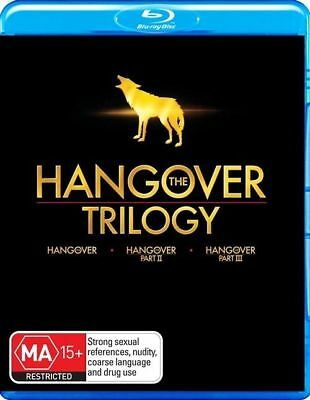 Hangover Trilogy 1, 2 & 3 I II III blu ray set Region B New Sealed