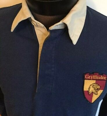 Harry Potter Pullover Gryffindor Long Sleeve Shirt Sz 10-12 Navy Blue With Logo