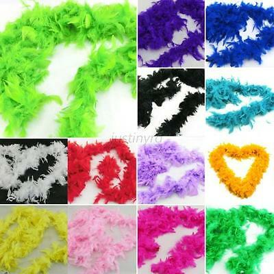 Chic New Feather Boa Hen Night Burlesque Dress Skirt Party Wedding Dressup Boas