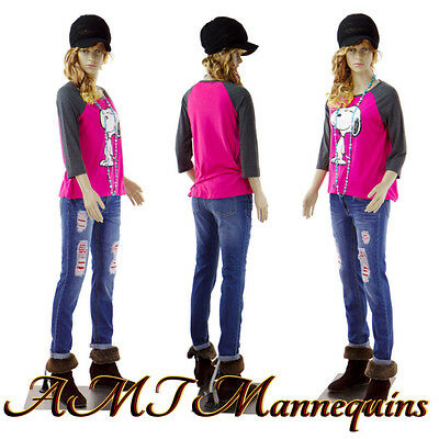 Female Mannequin realistic looking, amt-mannequins. manikin Teen Girl P14+2wigs