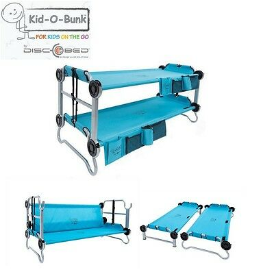 Kid O Bunk Kids 3 in 1 Camping Double Bunks Lounge or Two Single Beds Teal Blue