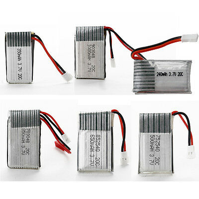 240mAh to 1000mAh 3.7V 20C LiPo Battery 1cell Lithium Polymer Battery f.RC Model