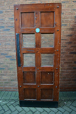 1 solid wood custom made matching Courthouse style fire door. 1O available