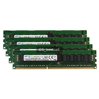 New Samsung 32GB 4X8GB PC3-14900R 1RX4 DDR3-1866MHZ REG ECC Registered Server