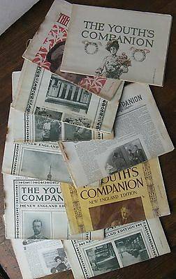 The Youth's Companion (18 Issues) 1884-1908. New England Editions, etc.