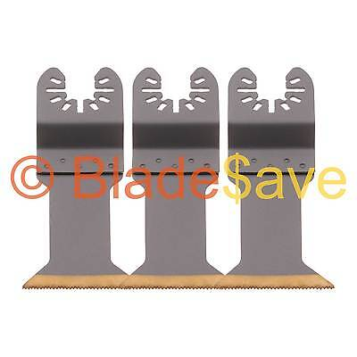 3 Worx Sonicrafter Blades Quick Release Multi Tool 44mm HSS Titanium by KROP