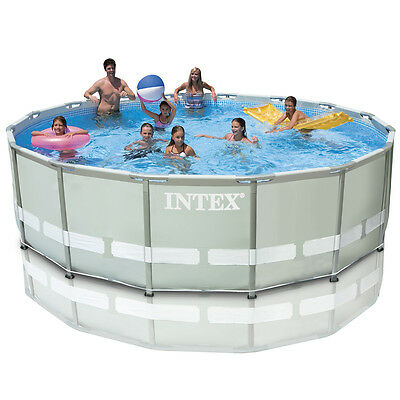 """Intex 16ft x 48"""" Ultra Frame Pool with Sand Filter Pump + Accessories (28324)"""