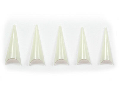 500 Design French Tips STILETTO Natur französische Form