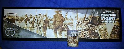 Western Front Centenary Bar Runner - Rubber Backed Mat New 2016